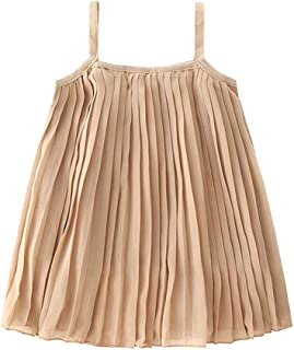 Fenteer Mommy and Daughter Dresses Sweet Slip Halter Shoulder-Straps Chiffon Dress
