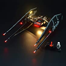 LIGHTAILING Light Set for (Star Wars Kylo Ren's Tie Fighter) Building Blocks Model - Led Light kit Compatible with Lego 75179(NOT Included The Model)