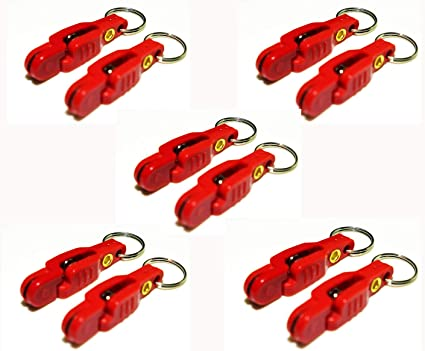 20PC Heavy Tension Pro Snap Weight Release Clip For Fishing Planer Board Kit Red