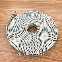Ochoos 2meters T5 PU Open Belt T5 Timing Belt T5 16MM White Polyurethane with Steel core Belt Width 16mm