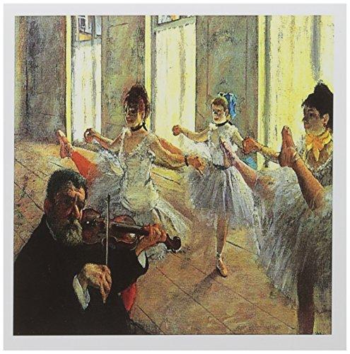 3drose Degas Gemälde Musik Party mit Ballerinas und Violine Karten, 15,2x 15,2cm, Set 6(GC 153758_ 1)