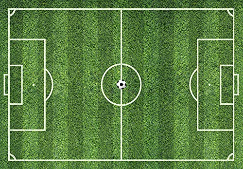 Alfombra de Vinilo Campo de Fútbol 80x55 cm Ideal para Zona de Juegos en Dormitorio Infantil y Juvenil Moqueta Vinílica SIN Pelo de 2 mm de Grosor Fácil Limpieza (55x80 cm)