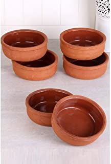 Hitit Terra Turkish Clay Bowl/Slow Cooking/Earth Pottery Bowls Set of 6
