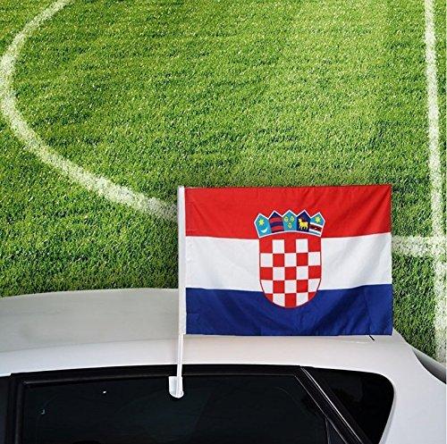 Autofahne Autoflagge Kroatien 30 x 45 cm