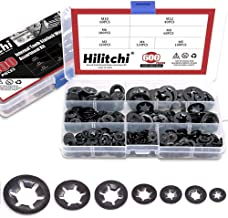 Hilitchi 600-Pcs [7-Size] Internal Tooth Starlock Washers Assortment Kit, Quick Speed Locking Washers, Black Oxide Finish