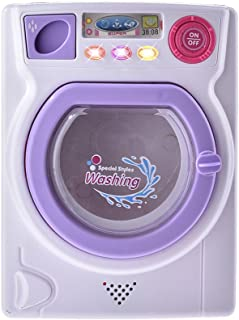 SHZONS Washing Machine Toy, Baby Home Mini Laundry Playset for Children,Mommy's Little Helper Pretend Play Washing Machine,with Real Light and Sound