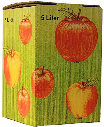 SELMA 10Stück 5 Liter Bag in Box Karton in Apfeldekor