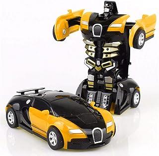 Saubhagya Global Plastic Deformation Car Toys Automatic Transformation Robot Plastic Vehicles Boys Toy Model Cars Kids Bab...