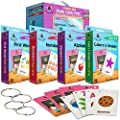 Star Right Flash Cards Set for Toddlers Through Grade 4 - for Reading, Learning, Basic Skills and Math, Includes 8 Rings by Star Right