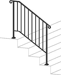 Iron X Handrail Picket #3 (Concrete Steps)