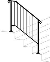 Can Support 200kg Waterproof Anti-Rust Suitable for Cement Concrete Steps and Wooden Steps Wrought Iron Safety Fence Color : Gold, Size : 35CM LSXIAO-Wall Art Handrails Picket