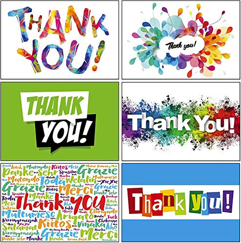 12 Count Thank You Cards in Bulk with Envelopes - Made in USA - Assorted Cards, 2 of each design in the Assortment 4' x 6' - Great for Weddings, Graduation, Birthdays, and Any Occasion, by Lone Star Greetings