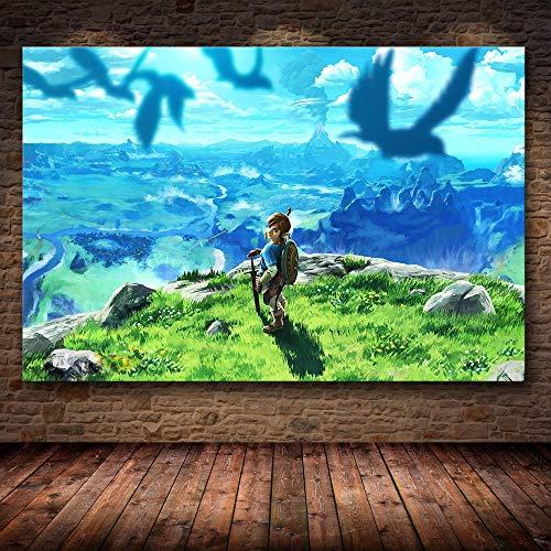 AQgyuh Puzzle 1000 Piezas Pintura del Juego The Legend of Zelda: Breath of The Wild Puzzle 1000 Piezas Animales Juego de Habilidad para Toda la Familia, Colorido Juego de ubicación.50x75cm(20x30inch)