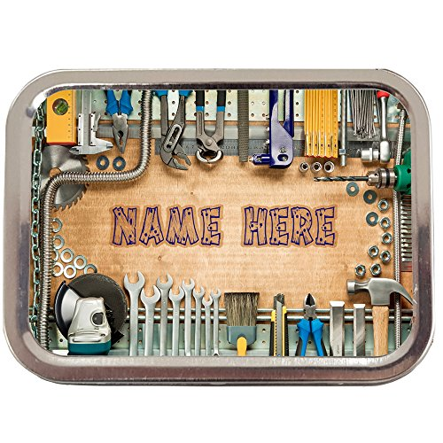 Personalised Worlds Best Carpenter St351 2oz Tobacco Tin | Baccy Storage | Pill Box | Cigarette Rolling Stash Can