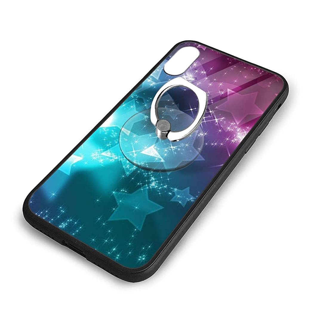 iPhone X Plus Cover Girly Cloud Case with Finger Ring Stand XS Phone Kickstand Holder Shock Protective Basic Protector
