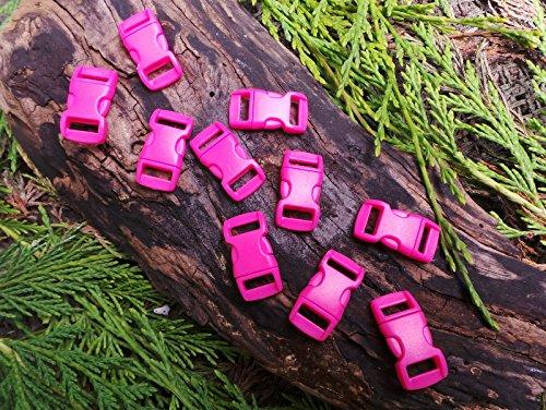 MD FlashLights Etc Ltd 10 x 10 mm 3/8 Rose Vif profilée Quick Release Paracord Bracelet de Survie avec Boucle