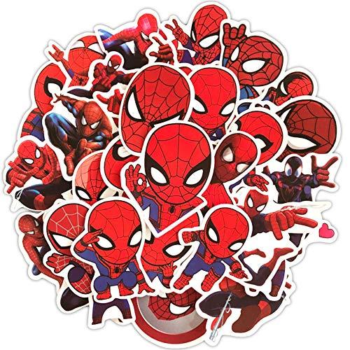 CHUDU Dibujos Animados Superhéroe Spider-Man Palanca Caja Monopatín Cuaderno Graffiti Pegatinas se Pueden Mover 35
