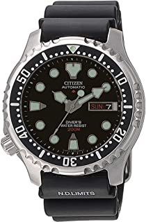 Citizen - NY0040-09EE Montre Homme Automatique Analogique Cadran - bracelet en caoutchouc