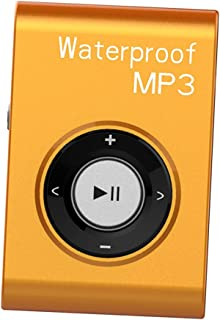 MagiDeal Universal Mp3 Music Player FM Radio with Clip IPX8 Waterproof Level Home Car - Orange