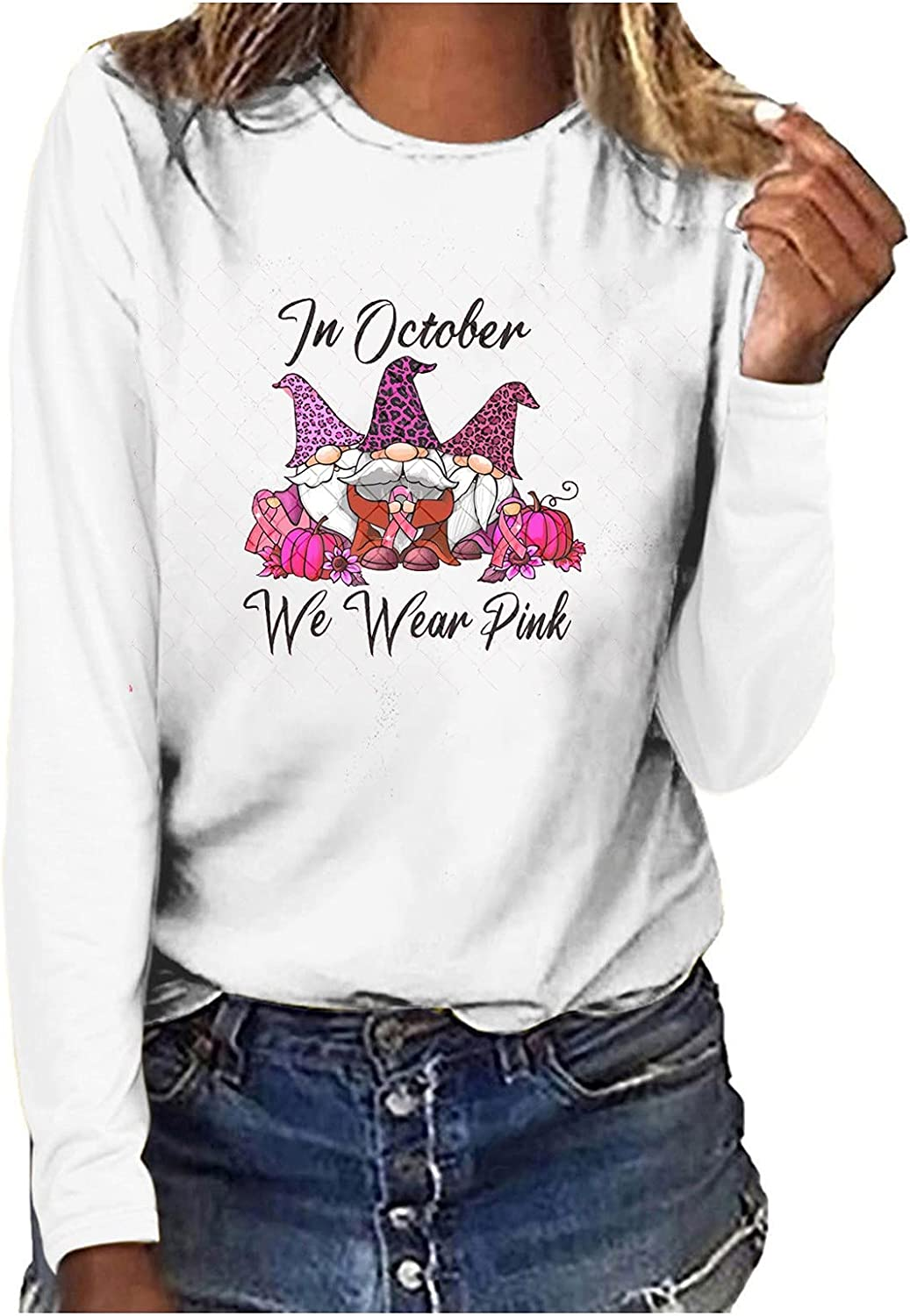 5665 Y2k Long Sleeve Tops for Women Fall Casual Crewneck Shirt Cute Funny Graphic Tee Loose Fit Blouses Workout Sweatshirt