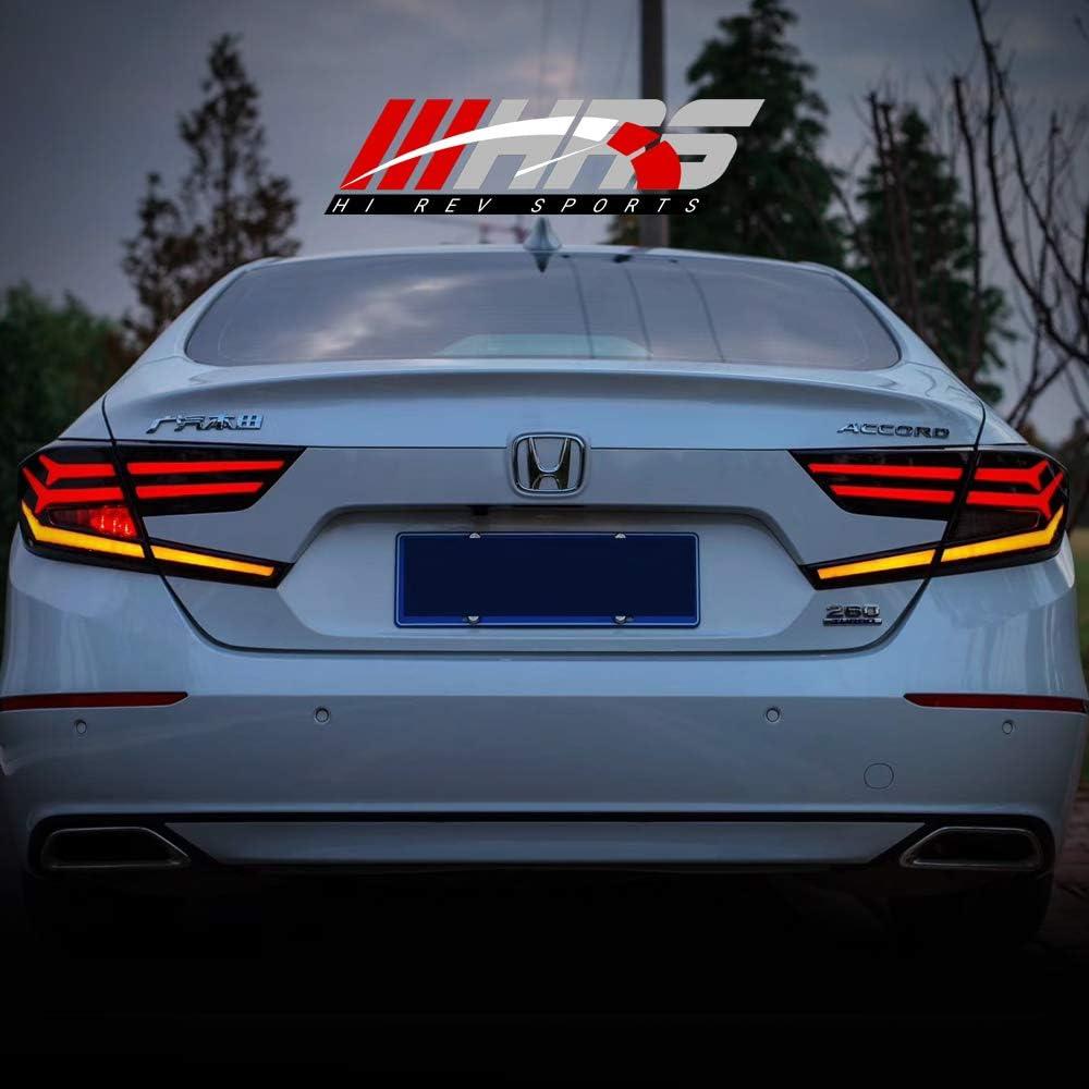 Amazon Com Led Tail Lights For 2018 2019 Honda Accord 1 Year Local Warranty Black Smoke Automotive