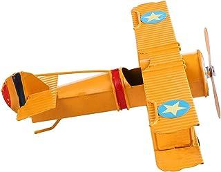 Luckyw Vintage flygplansdekorationer souvenir för fotorekvisita heminredning