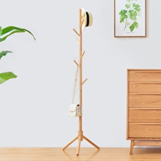 CJC Coat Rack Stand Environmental Protection 8 Hooks Five Colors Entryway Furniture Multifunction (Color : 2)