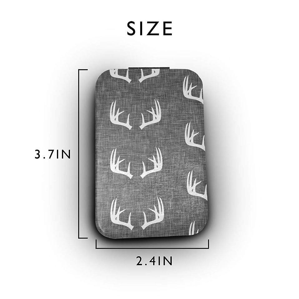 感じエールおなかがすいたアントラーズテクスチャ 携帯ミラー 手鏡 化粧鏡 ミニ化粧鏡 3倍拡大鏡+等倍鏡 両面化粧鏡 角型 携帯型 折り畳み式 コンパクト鏡 外出に 持ち運び便利 超軽量 おしゃれ 9.8X6.6CM