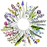 MWOOT 30 Piezas Forma de Flores Marcadores de Libros de Papel,Marcadores de Página Flower Bookmarks Set ,Marcapáginas Clip de Página para Suministros Lectura(30 Estilo)
