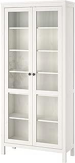 IKEA Hemnes Glass-Door Cabinet, White Stain