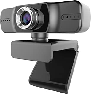 Goolfly 1080P Webcam Live Streaming Webcam USB Web Camera for PC Laptop Wide Angle Webcam with Double Microphone for Video...