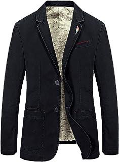 Mallimoda Men's Jacket Sporty Jacket Slim Fit Leisure Blazer Two Button Suit Jacket Plus Size Outwear