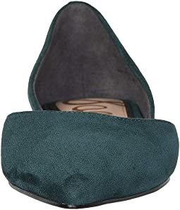 Jasmine Green Suede Leather