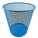 Acan Pamex - Papelera de Rejilla metálica Azul 27 x 23,5 cm. Papelera Redonda...
