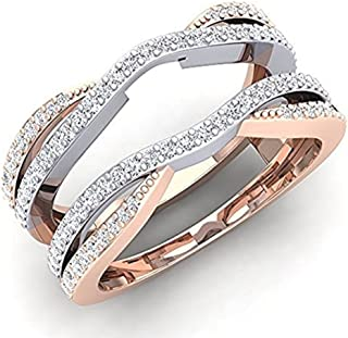 cz wedding bands white gold