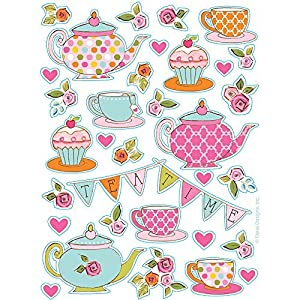 Tea Time Party Stickers
