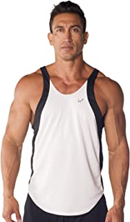 Mens Athletic Dri-fit Two-Tone Stringer Tank Top by Pitbull