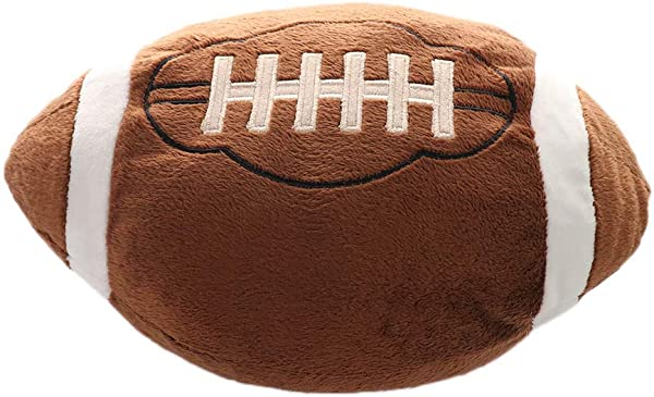 Asdomo Football Plush Pillow Fluffy Stuffed Throw Pillows Soccer Sports Ball Soft Durable Sports Toy Gift For Kids Sofa Room Decoration 11 8 Lx11 8 W
