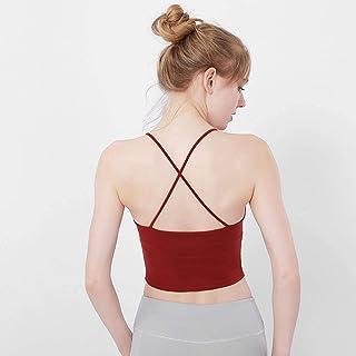 New Running Fitness Yoga Vest Women's Thin Shoulder Strap Beauty Back Yoga Bra Quick-Drying Sports Underwear Bra 10 Wholesale