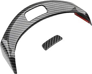 ملصقات تزيين بإطار على شكل لوحة تحكم مركزية لمسند الذراع لأزرار مرسيدس بنز سي كلاس W205 GLC X253 2015-2020