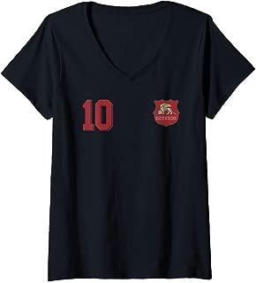 Womens Venice or Venezia in Football or Soccer Style V-Neck T-Shirt