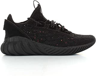 Tubular Doom Sock Black Textile Youth Trainers Shoes