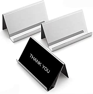 #145 Business Card Stand Office Gift Glass Card Holder Desk Accessory Business Card Holder for Desk Coworker Gift
