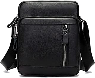 Ai-yixi klassisk design New Top Layer Cowhide Fashion Oroprematic Permancular Retro Multi-Function Crossbody Bag Perfekt v...