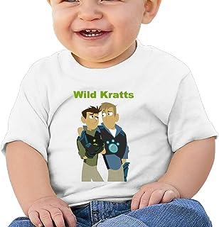 2-6 Year Old Childrens Hooded Pocket Sweater Original Retro Literary Design Wild Kratts Logo White