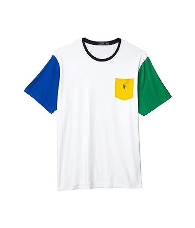 Polo Ralph Lauren Big & Tall Big Tall 26/1 Jersey Short Sleeve Classic Fit T-Shirt (White Multi) Men
