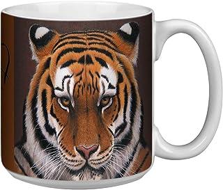 Tree-Free Greetings Extra Large 20-Ounce Ceramic Coffee Mug, Siberian Tiger Themed Wildlife Art (XM29732)