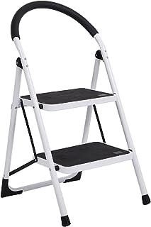 Sponsored Ad - Besthls 2 Step Ladder Stool,Folding Kitchen Step Ladder Stool with Handgrip and Wide Anti-Slip Platform for...