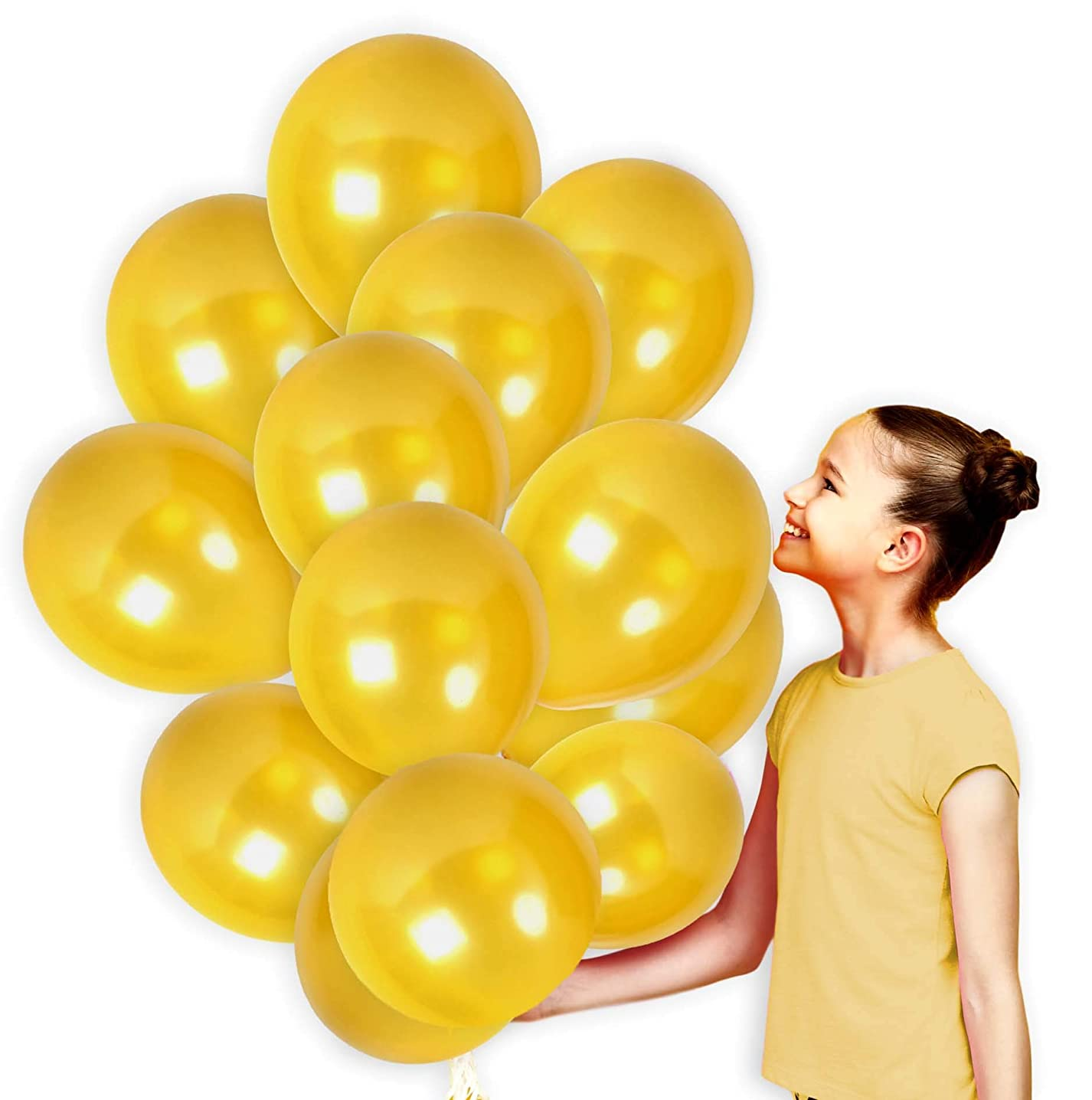 Gold Metallic Latex Balloon Pack of 36 Party Kit for Bachelorette Party Baby Shower Wedding Arch Graduation Supplies