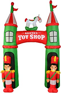 Santa's Toy Shop Archway Illuminated Christmas Inflatable Display - 2.9m